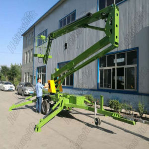 Aerial Diesel Hydraulic Mounted Trailer Boom Lift Table pictures & photos