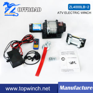 ATV 12V/24V DC Electric Winch with Wireless Remote Kit (2000lb-3) pictures & photos