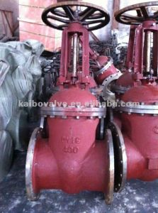 GOST Standard Gate Valve (flanged, cast steel, round cover) pictures & photos