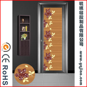 Removable Waterproof PVC Paper Shower Door Decorative Film for Home pictures & photos