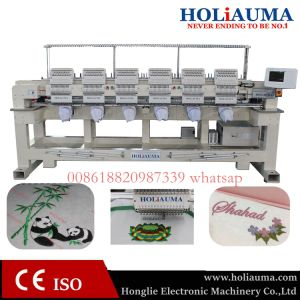 High Compact Speed 6 Head Computer Embroidery Machine Multi Function Embroidery with Software Free pictures & photos