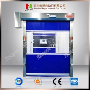 Automatic Stacking High Speed Fold up Flexible Fabric Fast Rolling Door (Hz-FC0246) pictures & photos