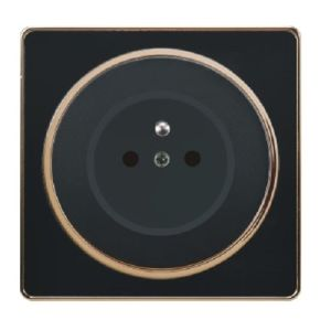 British Standard 16A Black Golden-Framed French-Style Wall Socket Outlet pictures & photos