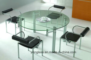 Clear Tempered Glass Dining Table Top pictures & photos