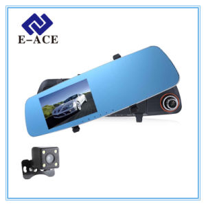 Two Camera Lens Full HD Auto Dashcam Video Recorder Car DVR pictures & photos