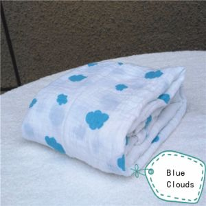 MOQ: 50pieces Custom Print Cotton Muslin Blanket Swaddle pictures & photos