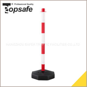 Red/White 90cm Height PE Post pictures & photos