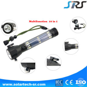 Best-Selling High Quality Emergency Outdoor Aluminum Material Powerful Solar Torch Light pictures & photos