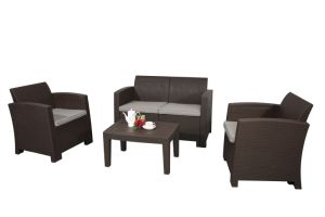 PP Injection Rattan Popular Outdoor Furniture Combination Sofa Knock Down pictures & photos