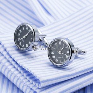 VAGULA Hot Sell Real Clock Cufflink Movement Watch Cuff Links Wedding Gift Gemelos 628 pictures & photos