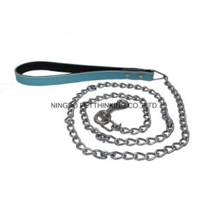 Leather Handle Chain Pet Lead, Leash Chain pictures & photos