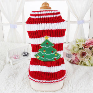 Christmas Holiday Pet Costumes Fashion Dog Stripes Sweaters pictures & photos