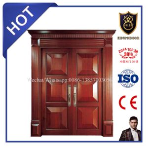 Superior Design Solid Wood Double Entrance Doors Villa Doors pictures & photos
