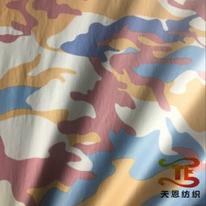 100% Polyester Camouflage Printed Fabric with Silver Backing for Jackets and Garment pictures & photos