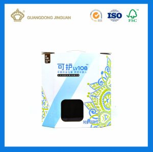 Custom Printed Corrugated Cardboard Boxes for Milk Packing (with Plastic Handle) pictures & photos
