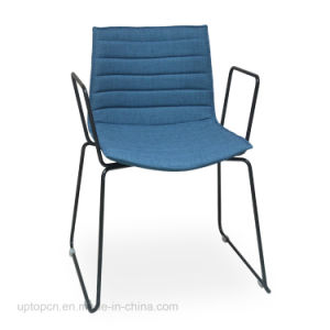 Hot Sale Restaurant Dining Sled Arper Chair with Arm (SP-HC069) pictures & photos