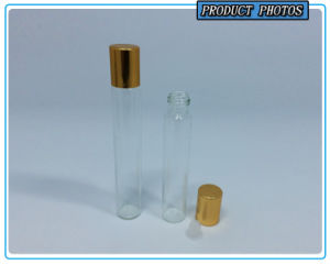 3ml 5ml 8ml 10ml Clear Cosmetic Glass Vial with Gold Screw Cap pictures & photos