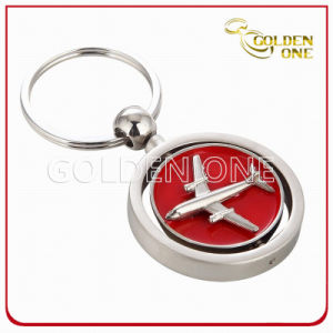 Novelty Design Spinning Air Plane Metal Key Chain pictures & photos