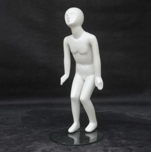 Glossy White Fiberglass Children Mannequin for Dress pictures & photos