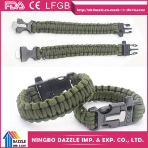 7 Core Bracelet Paracord Wholesale Survival Paracord Bracelet with Fire Starter & Whistle pictures & photos