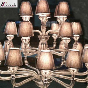European Style Crystal Chandelier with Fabric Shade for Hotel pictures & photos