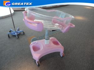 Gas Spring Adjustable Baby Cart Plastic Hospital Baby Crib (GT-2310A) pictures & photos