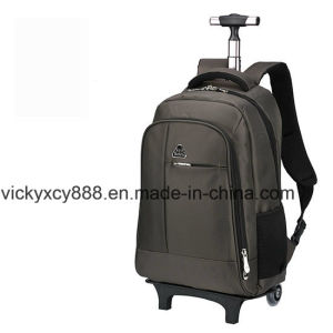 Double Shoulder Wheeled Trolley Business Travel Big Capacity Backpack (CY3646) pictures & photos