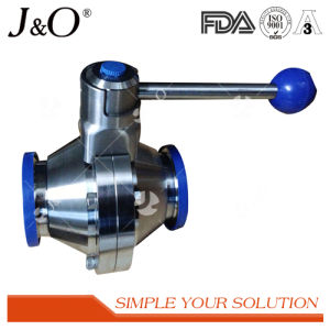 New Design Sanitary Tri-Clamp CIP Butterfly Ball Valve pictures & photos