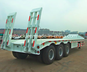 SINOHTC Made 3 Axles 60tons Heavy Duty Lowbed Semi Trailer pictures & photos