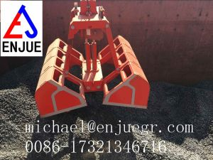 Shipcrane Vessel Remote Control Grab Hydraulic Clamshell Grab pictures & photos