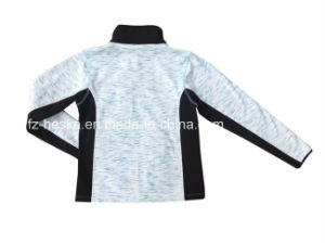 OEM Design Hot Sales Outdoor Waterproof Zip Melange Color Knitted Clothes Women Jacket pictures & photos