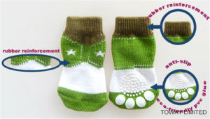 Design Customized Knitting Rubber Anti Slip Basic Dog Socks pictures & photos