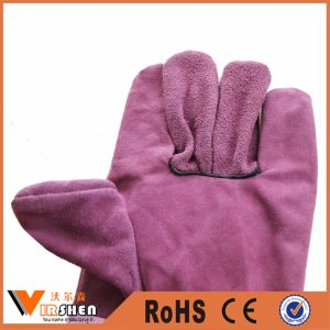 Durable Leather Long Welding Gloves pictures & photos
