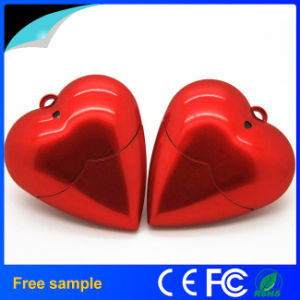 Red Heart Shape Plastic USB Flash Drive for a Gift USB pictures & photos