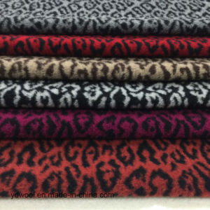 Leopard Print Jacquard Wool Fabric Stock pictures & photos