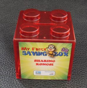 Promotion Gift Logo OEM Multi Color Transparent Block Cartoon Saving Money Box pictures & photos