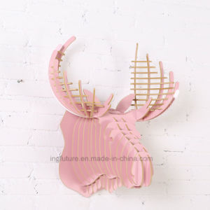 Wooden Crafts Creative DIY Home Decoration Deer Head Hanging pictures & photos