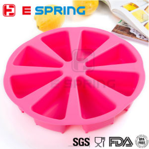 8 Cells Non-Stick Triangle Shape Silicone Cake Mold Baking Pastry Molds Chocolate Jelly Mousse Bread Mould Savoury Cake Pan pictures & photos