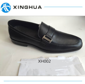 Good Price Black Leather Shoes pictures & photos