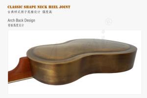 Vintage Golden Colour Brass Metal Body Acoustic Resophonic Guitar for Sale pictures & photos