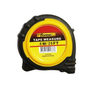 8m Steel Tape Measure with Nylon Coated Dual Blade and Magnetic Hook pictures & photos
