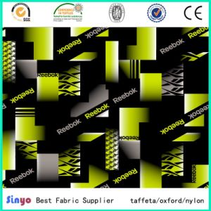 PU Coated Jacquard Oxford 300d FDY Cationic Yarn Fabric with Printed pictures & photos
