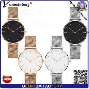 Yxl-197 2017 New Arrival 32mm Case Classic Women Rose Gold Dw Mesh Strap Classic Wrist Watch pictures & photos