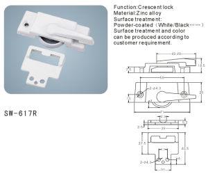 Crescent Lock for Window and Door Hardware Accessories (SW-617R) pictures & photos