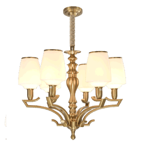 New Design Iron Chandelier with Glass Shade Lighting Fitting for Home (SL2276-8) pictures & photos