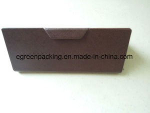 Coffee PU Covered Fold Glasses Case (KS2) pictures & photos