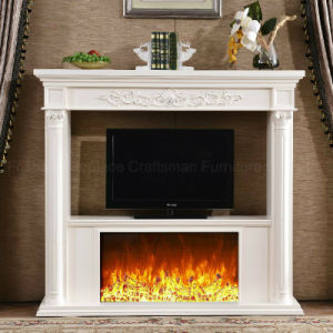 European TV Stand LED Lights Heating Electrical Fireplace (326B) pictures & photos