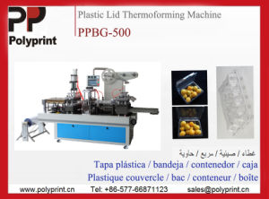 Popcorn/Tea/Coffee/Milk Plastic Cup Lid Forming Machine (PPBG-500) pictures & photos