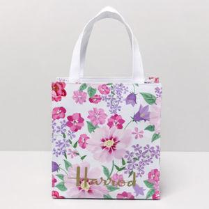 White PVC Canvas Floral Patterns Ladies Bag (H036-25)