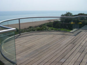 Outdoor Balcony U Channel Glass Railing, Aluminum U Based Channel Balustrade for Stair pictures & photos